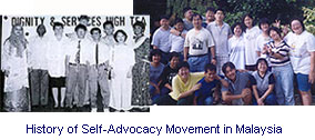 Self-Advocacy History in Malaysia